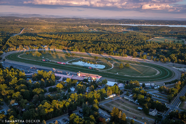 Saratoga Race Course from Above