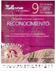 """9 seminario LGBTTTI: """"De lo íntimo a lo cotidiano"""""""