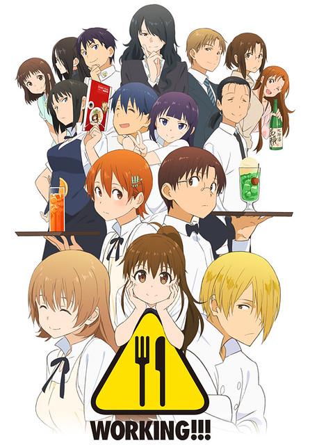 150609(1) - 新任監督「鎌倉由実」執導電視動畫第3期《WORKING!!! 迷糊餐廳》於7/4首播、預告片公開中!