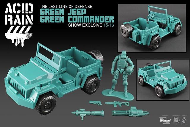 綠色小兵再起!~ 《酸雨戰爭》2015年度會場限定品:Green Jeep + Green Commander