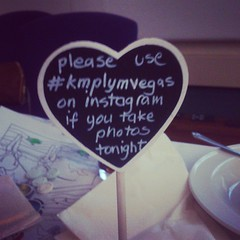 Wish you all the best fir the future Matt & Kate x #kmplymvegas