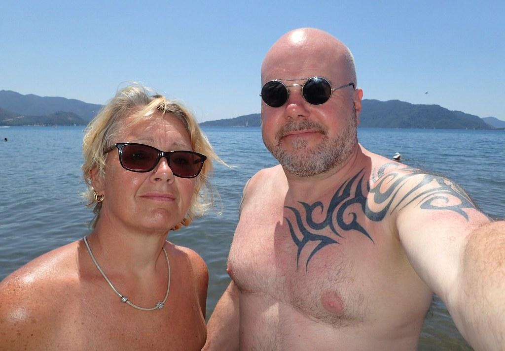 Sunshades at the beach.