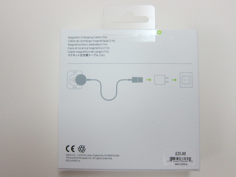 Apple Watch Magnetic Charging Cable (1m) - Box Back