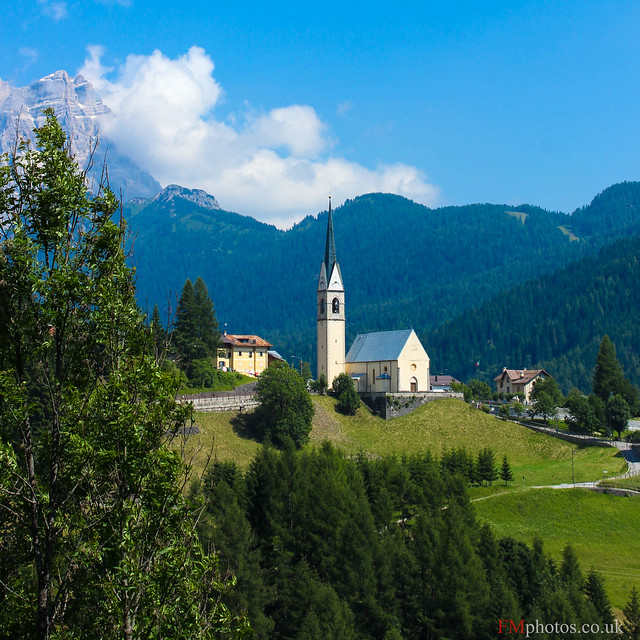 Tranquil Village in the Dolomites