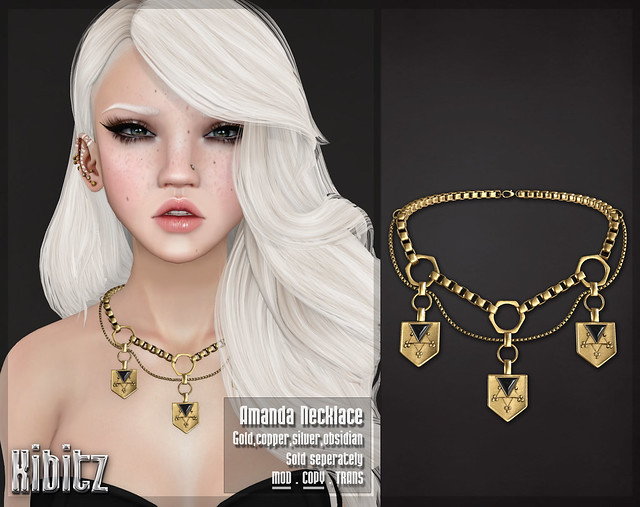 kibitz amanda necklace gold