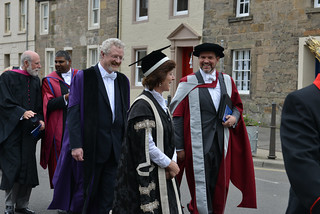 Vint Cerf, Saleem Bhatti, Garry Taylot, Louise Richardson and Aaron Quigley - Univeristy of St Andrews Graduation 2015