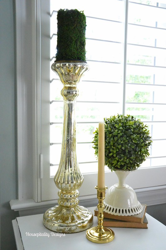 Moss Covered Candle vignette-Housepitality Designs
