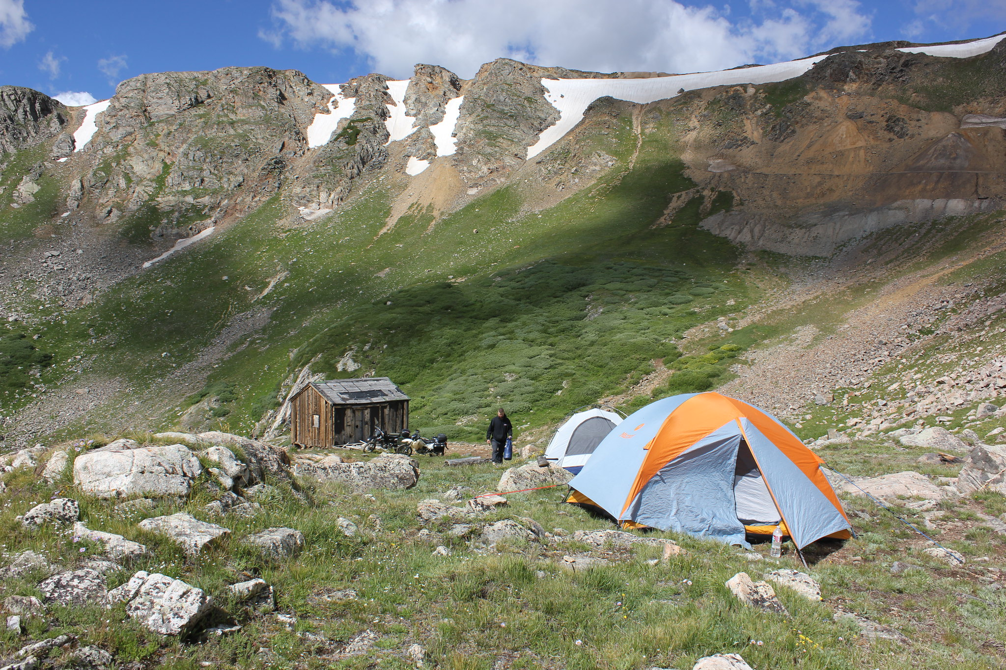 Cold weather camping: heating your tent without power