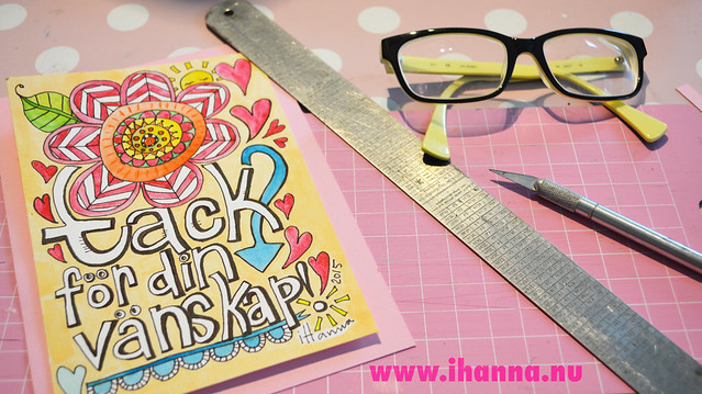A doodle card for Jana by iHanna of www.ihanna.nu