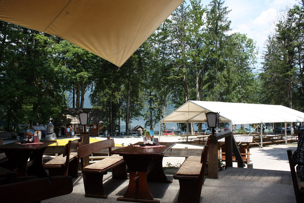 Bohinj Outdoor restaurant just up from the lake