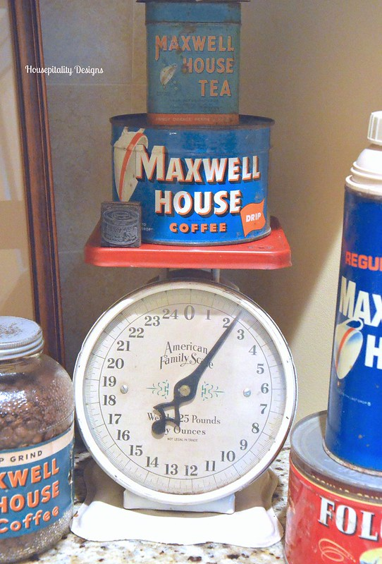 Vintage Scale Vintage Maxwell House Coffee Tins Housepitality Designs