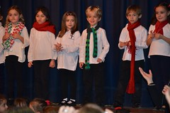 First-Graders Onstage At The Christmas Concert