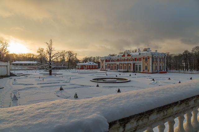 Kadriorg Palace Garden in the Winter Evening