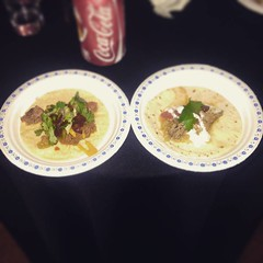 These may be my final two tacos at @tacofestwr but they were delicious!