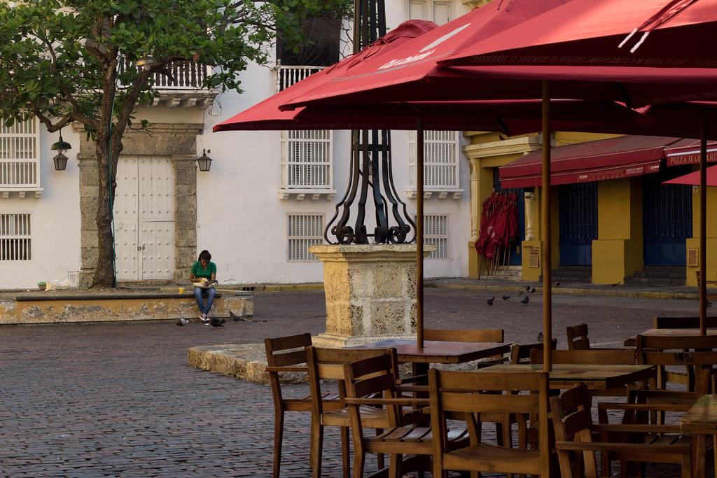 aukio, Cartagena, Kolumbia