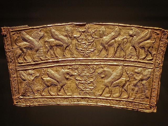 Gold Breastplate fragment depicting Lamassu Northwestern Iran 8th-7th century BCE