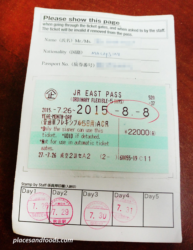 JR east pass back