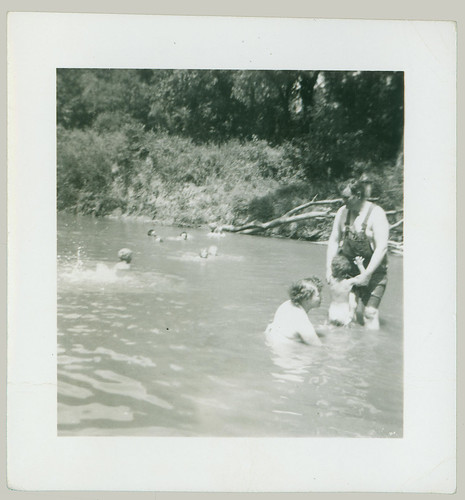 Swimming in the river