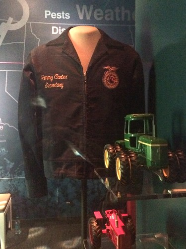 Jimmy Carter's jacket on display at the Smithsonian's National Museum of American History