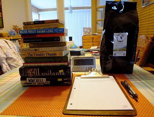used books & coffee beans