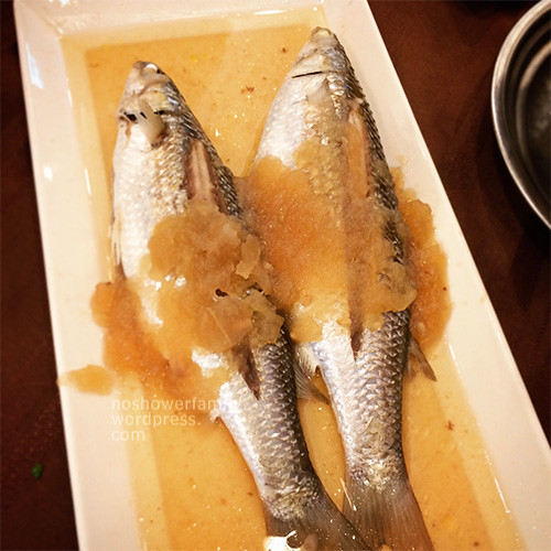 Steamed fish with salted white gourd