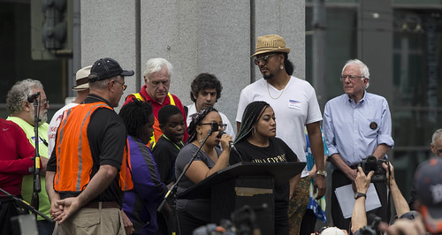 Bernie Sanders and Black Lives Matter activists