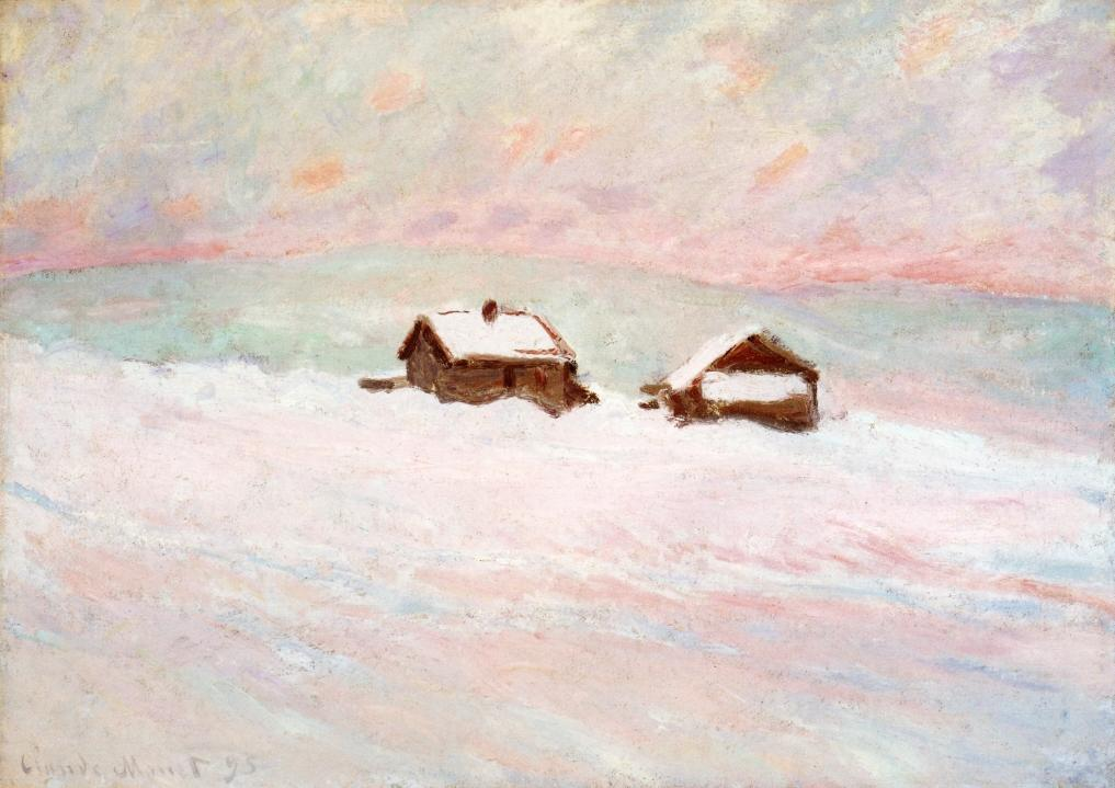 Houses in the Snow, Norway by Claude Oscar Monet - 1895