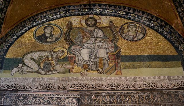 Christ Pantocrator - mosaic at the Hagia Sophia, Constantinople (Istanbul)