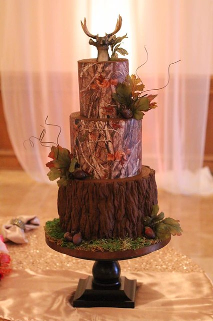 Grooms Cake for Avid Hunter by Charity Fent Cake Design