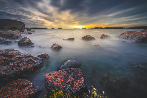 longexposure blue sunset sea summer sky nature clouds finland landscape evening nikon rocks le nikkor jyrki waterscape kotka d600 1635mm salmi mussalo