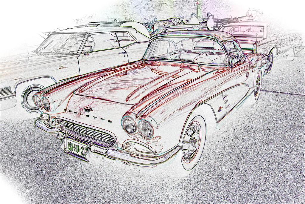 Chevrolet Corvettte C1 Series 867 1961 drawing & SC (6579)