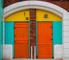 Two Orange Doors-titled