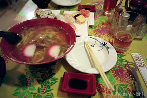 SUSHI & OKINAWA SOBA (noodle)