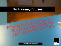 No Training Courses