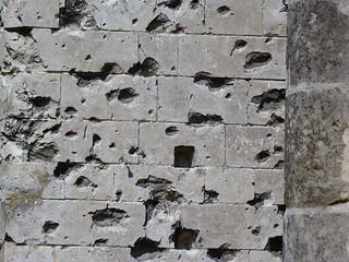 Disparos de bala de la Primera Guerra Mundial en Nord-Pas de Calais (norte de Francia)