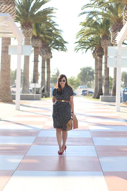 simplyxclassic, wayf, wayf dress, polkadot dress, clare vivier clutch, fashion blogger, mommy blogger, life style, orange county