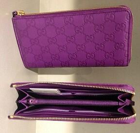 $279 Half Zip Purple Guccissima Wallet 332747_BNJ1R_5526