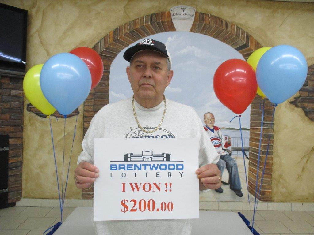 Brentwood Lottery XXV $200 Winner