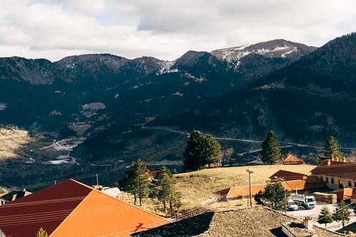 metsovo greece mountain winter hepirus