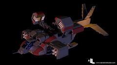 Lego Alien's Dropship 3D Render
