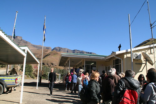 Waiting to depart South Africa, Sani Pass Border Post