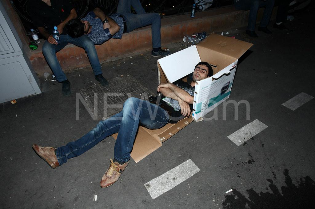 В Армении протест возобновился во втором по величине городе страны Гюмри - Цензор.НЕТ 2299