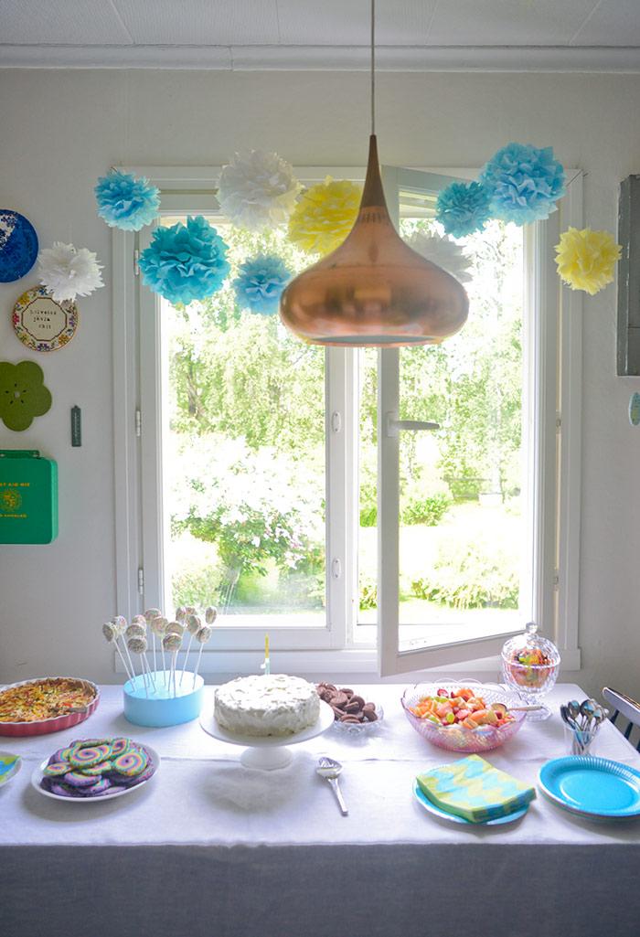 Rainbow theme birthday decorations