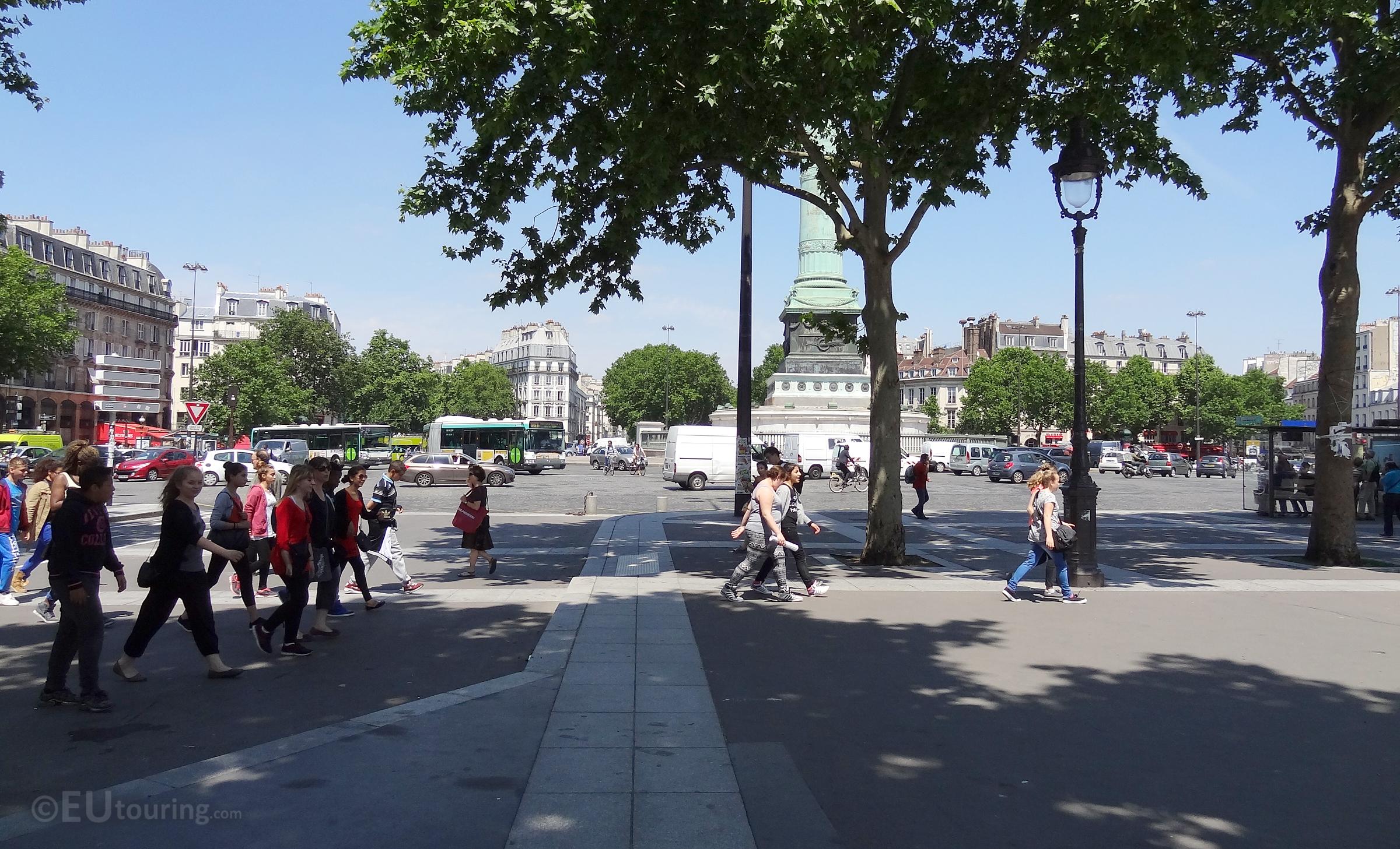 Place de la Bastille square.