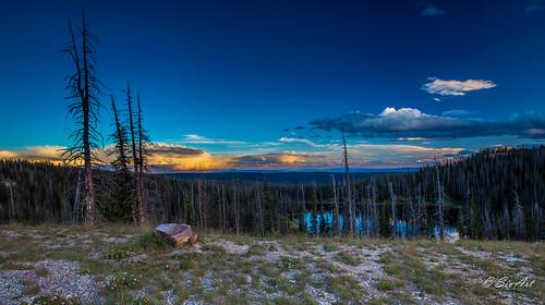 snowyrange lake landscape sunset
