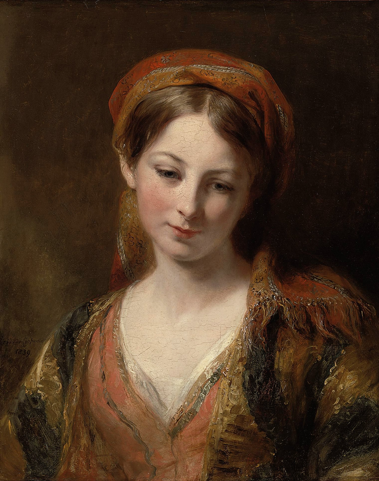 Portrait of a Young Girl by Margaret Sarah Carpenter, 1839