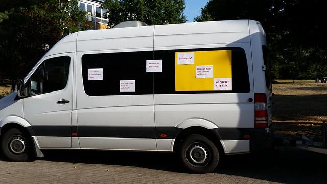 Asylanten Huttenheim Protest