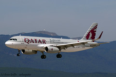A7-AHY | Qatar Airways | Airbus A320-232(SL) | LSGG | 20160521