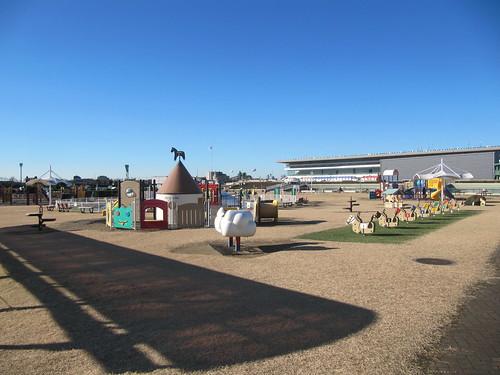 中山競馬場の緑の広場