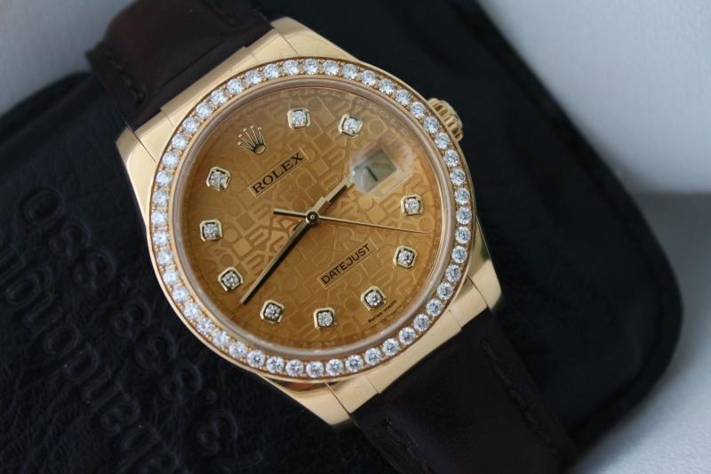 Bán đồng hồ rolex datejust 6 số 116138 – vàng 18k – dây da – mặt vi tính xoàn – size 36